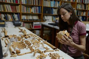Nicole Smith-Guzman analyzes skeleton